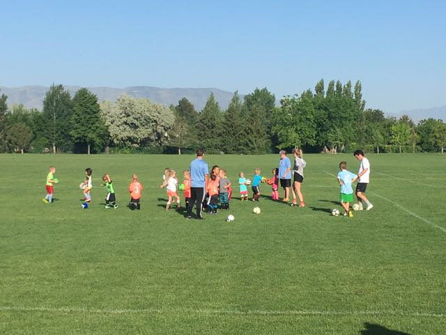 First Day of Soccer Camp