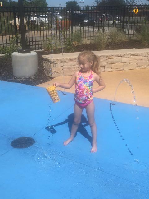 Splash Pad at the Mall, Again