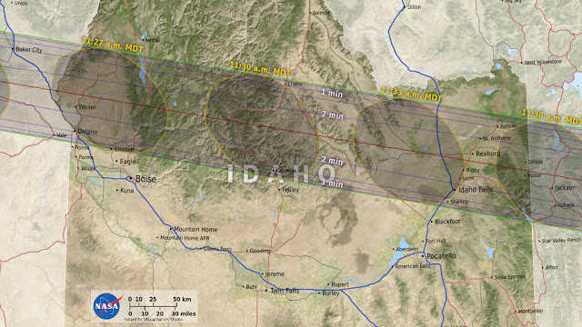 Getting to Idaho, to See the Eclipse