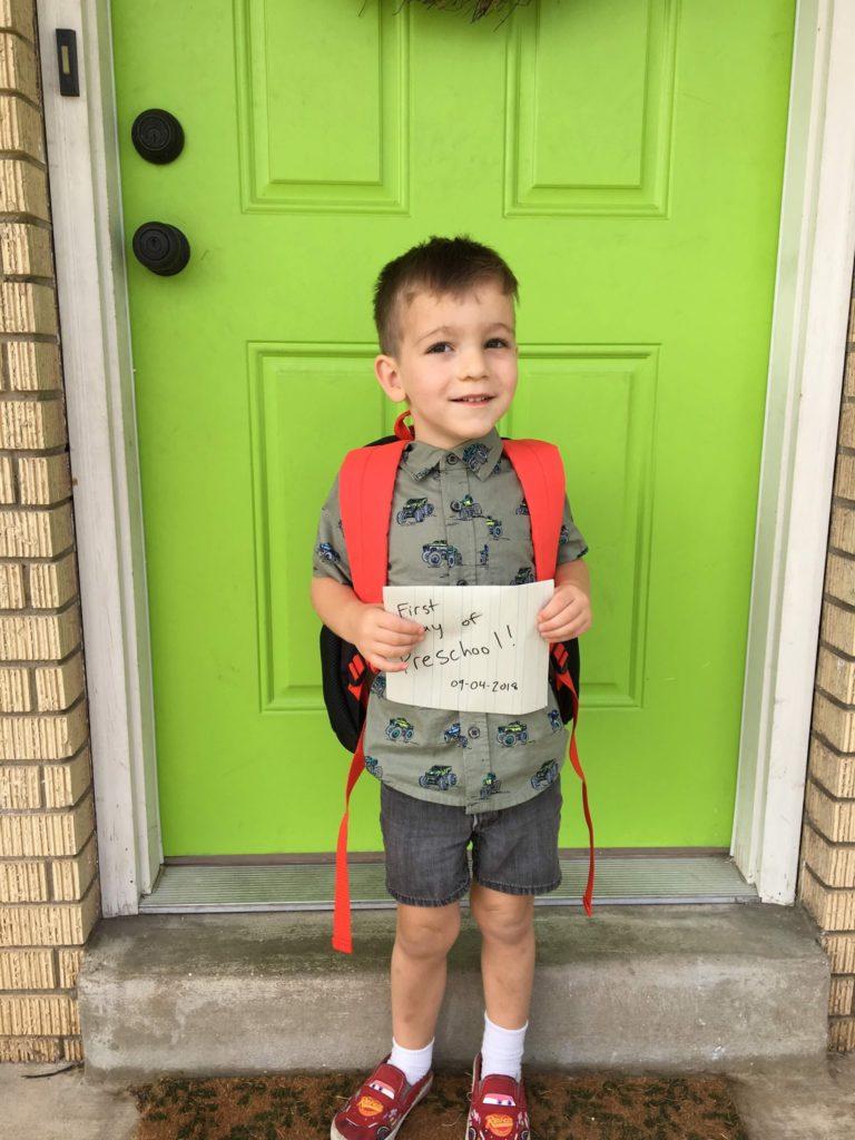 Lucas's First Day of Preschool!