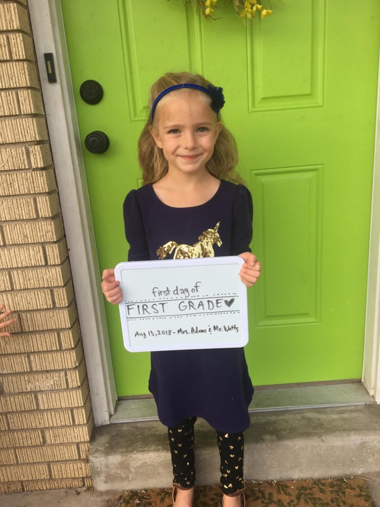First Day of First Grade! (Sort of)