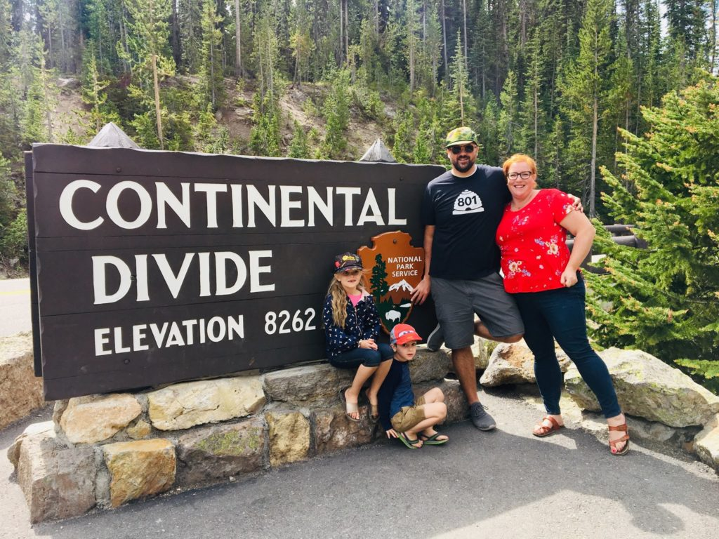 Yellowstone Day Three: The Continental Divide and Lunch with a Kite at the Lake