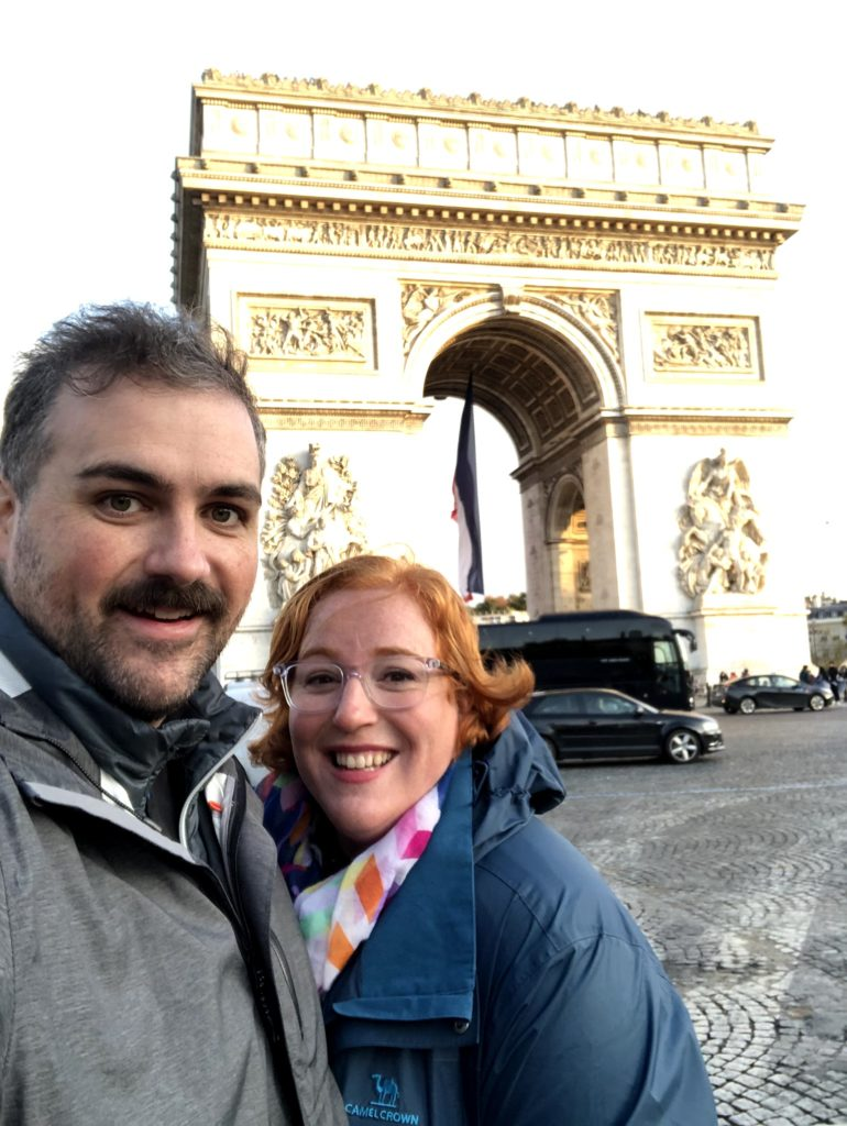 Paris Day 3: Arch De Triumph and French Food at a Cafe