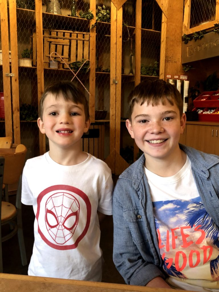 Landyn and Lucas at the Museum of Ancient Life