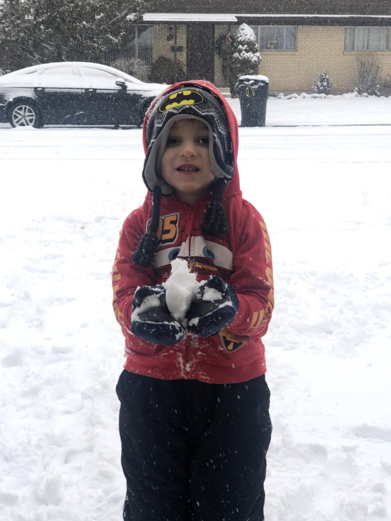 Lucas in the Snow