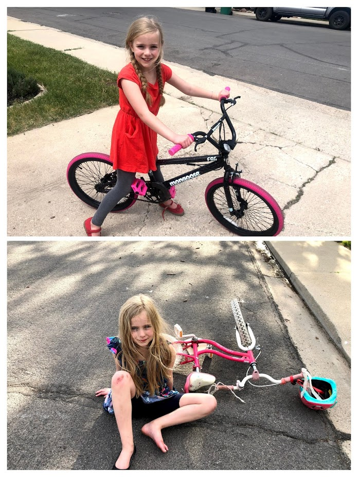 Mirah Learned to Ride Her Bike