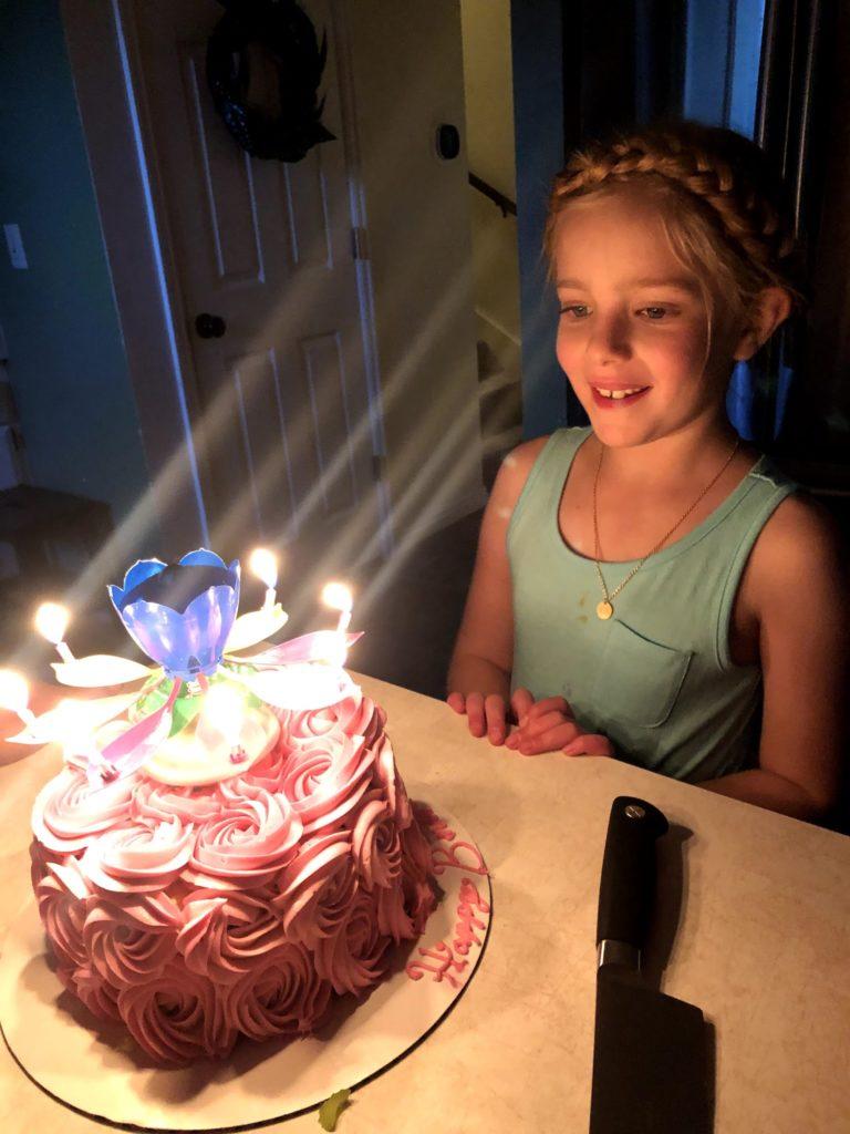 Mirah's 8th Birthday: Dinner and Cake