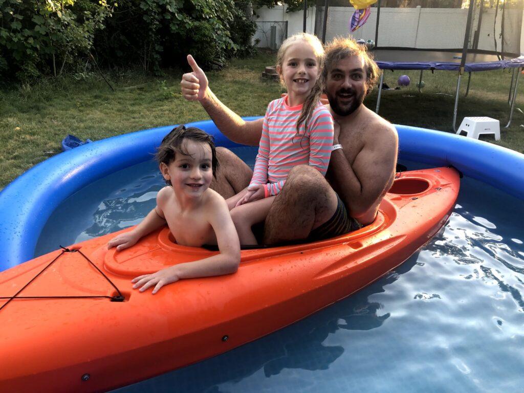 Pool and the Kayak