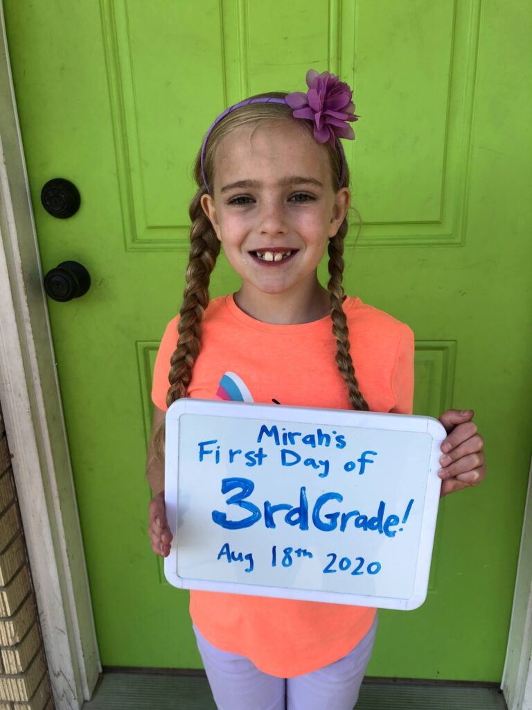 Mirah's First Day of 3rd Grade