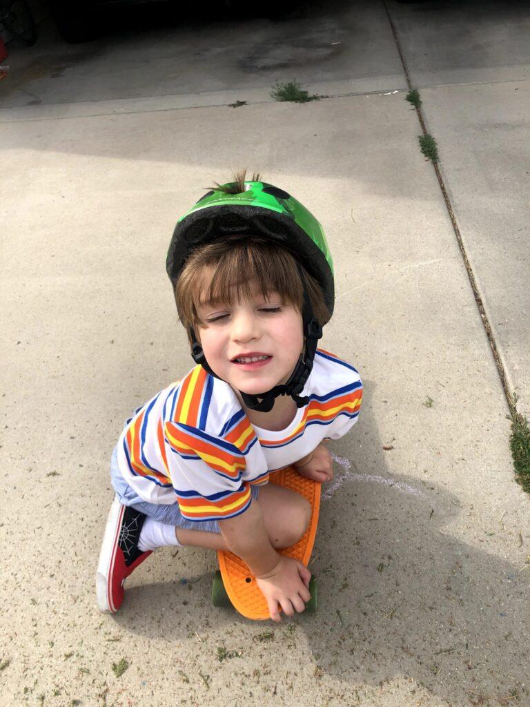 Lucas in the Garden, Picking Some Pumpkins
