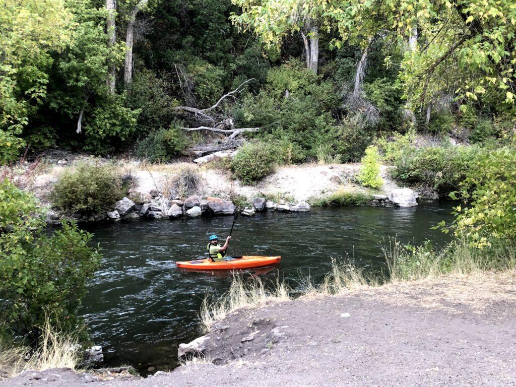 Karl Kayaking the River