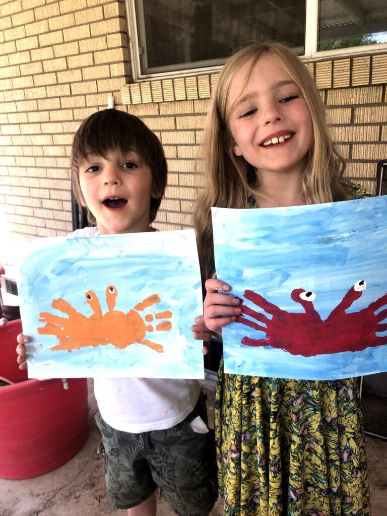 Lucas's Birthday Week: Crab Crafts!