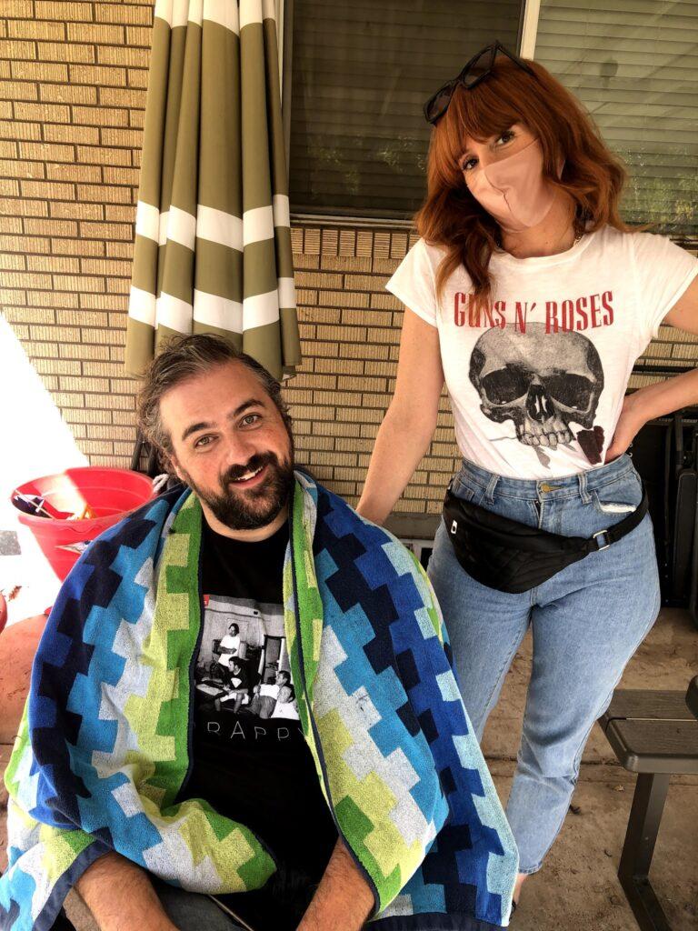 Fall Break 2020 Monday: Backyard Fun and Haircut