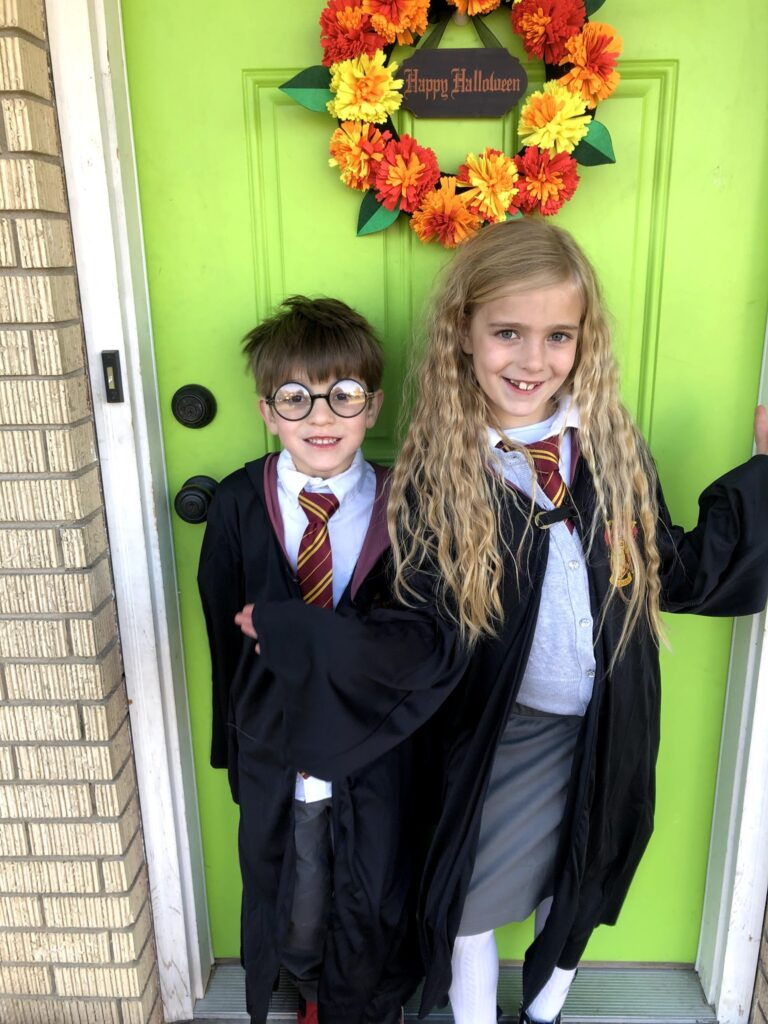 Halloween: School Celebrations & Costumes-Harry and Hermione