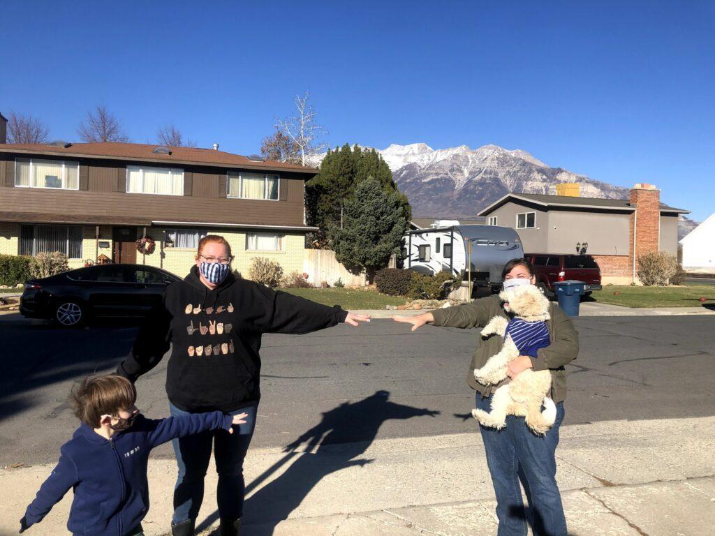 Saturday Visits: Krysta, Karen, Grandma and Grandpa