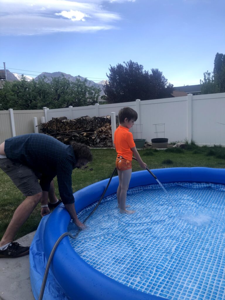 A LONG short Week: After Sharks, Luna's new Shoes, and Setting Up the Pool